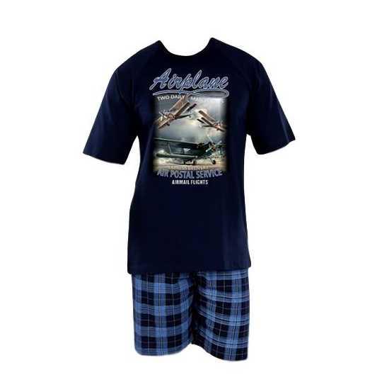 6d886a48411c Pánské pyžamo Evona krátké vel. M-XXL tmavě modré
