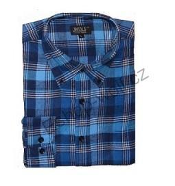 Pánská flanelová košile Wolf vel. L modrá  646cb3163d