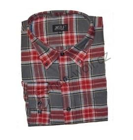 Pánská flanelová košile Wolf vel. L šedočervená 3aea58df7e