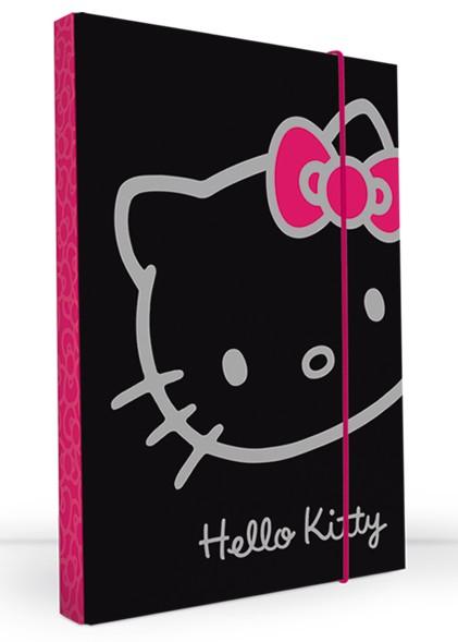 Kartonové desky Hello Kitty A4 černé
