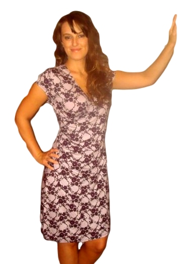 Dámské šaty Fashion Mami vel. 48/50(4XL) fialové vzor krajka XXXXL