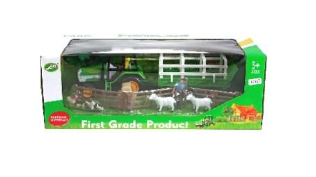 Sada Farma - Traktor s přívěsem + příslušenství