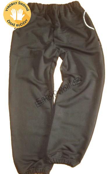 Chlapecké tepláky bavlněné vel. 116-152 černé