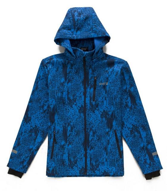 Podzimní chlapecká softshellová bunda Wolf vel. 134-140 modrá 134-140