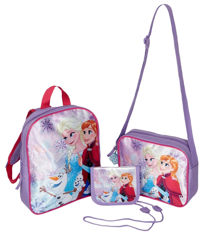 Batoh, taška + peněženka Frozen - set