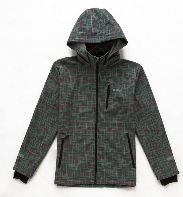 Podzimní chlapecká softshellová bunda Wolf vel. 134-140 šedá 134-140