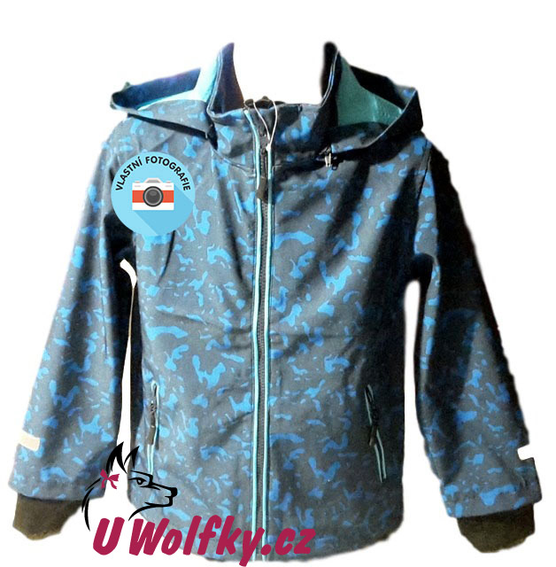 Chlapecká softshellová bunda Wolf vel. 116-122 modrá 116-122