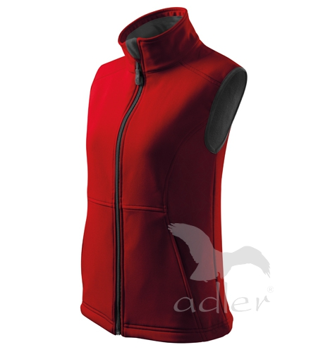 Dámská softshellová vesta Adler vel. M červená M