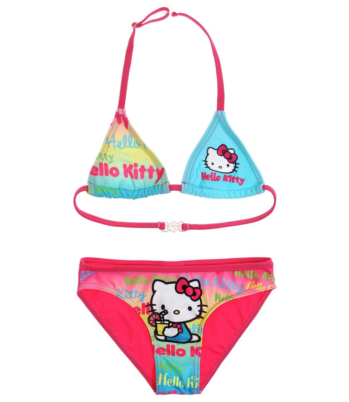 Plavky Hello Kitty vel. 104 modré s růžovou 104