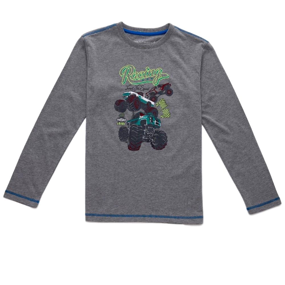 Chlapecké triko Wolf šedý melír 8a488868b4