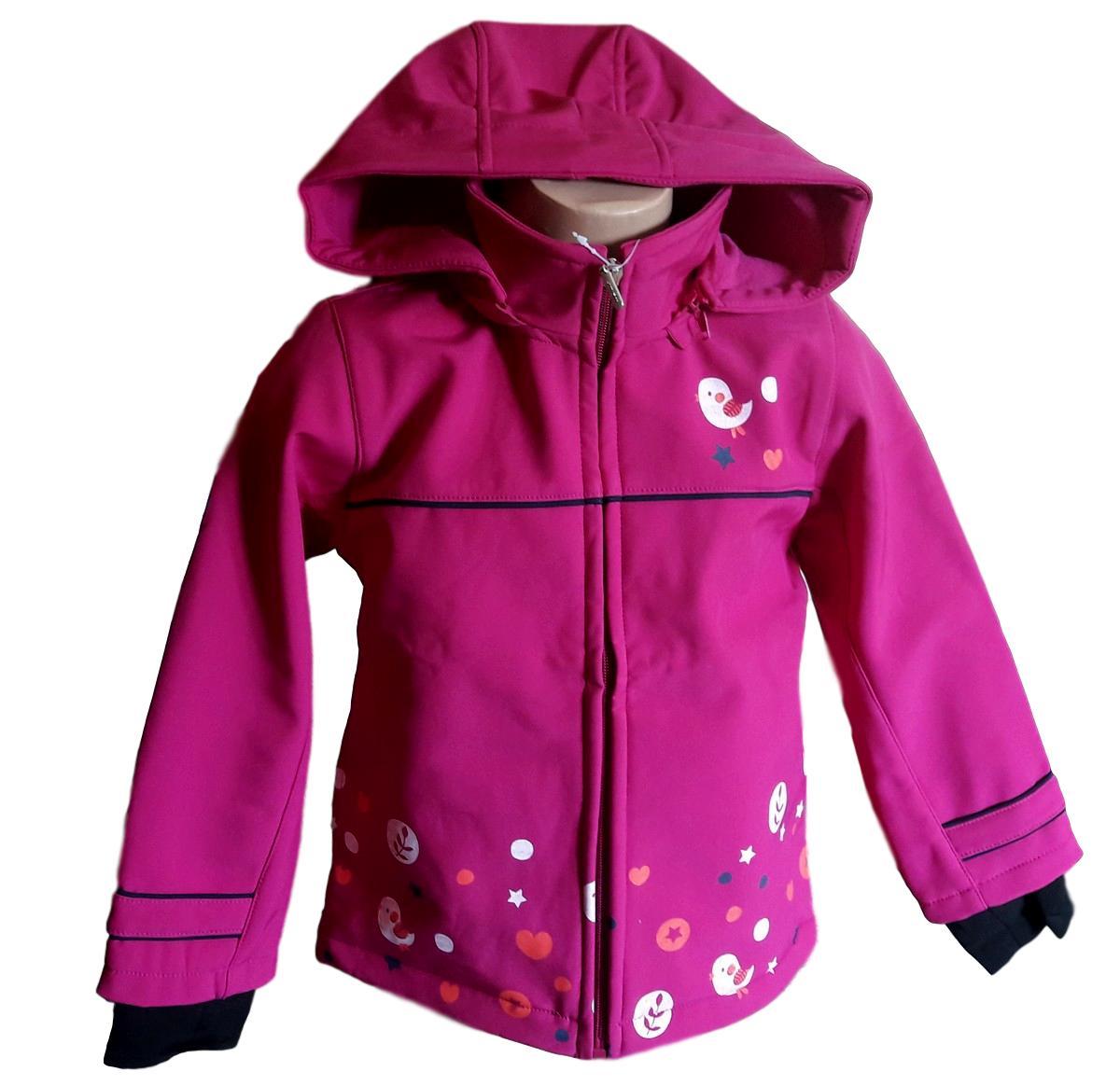340d9e5a6c2 Dívčí softshellová bunda Wolf vel. 98 104 tm. růžová