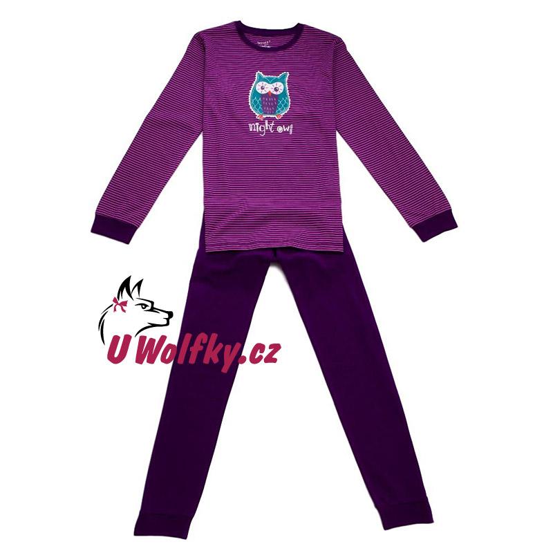 16daca65877 Dívčí pyžamo Wolf S2753 vel. 134 fialové 134