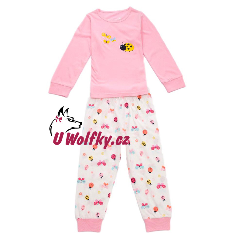 Dívčí pyžamo Wolf vel. 86 růžové 86