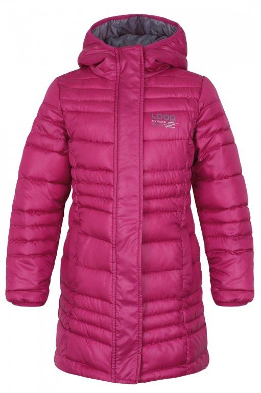 Zimní kabát Loap vel. 116 tmavě růžový  972e3a81e7