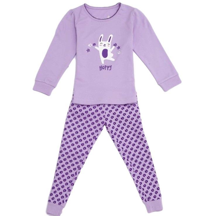 f8e44d6f4f8 Dívčí pyžamo Wolf teplejší vel. 92 fialové