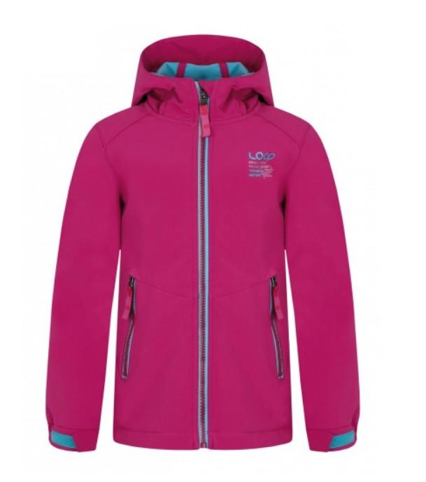 Softshellová bunda Loap Calif tmavě růžová 3b4b74815c