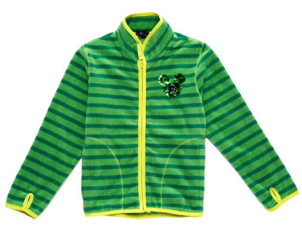 Fleecová chlapecká mikina Wolf B2831 vel. 98-128 zelená  5a091f2c98