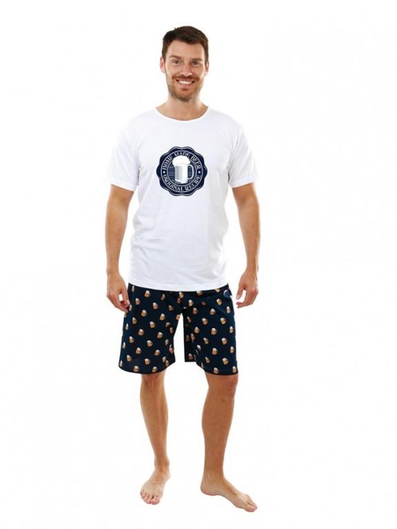 b452a80ea212 Pánské pyžamo Evona letní vel. M bílé s modrou