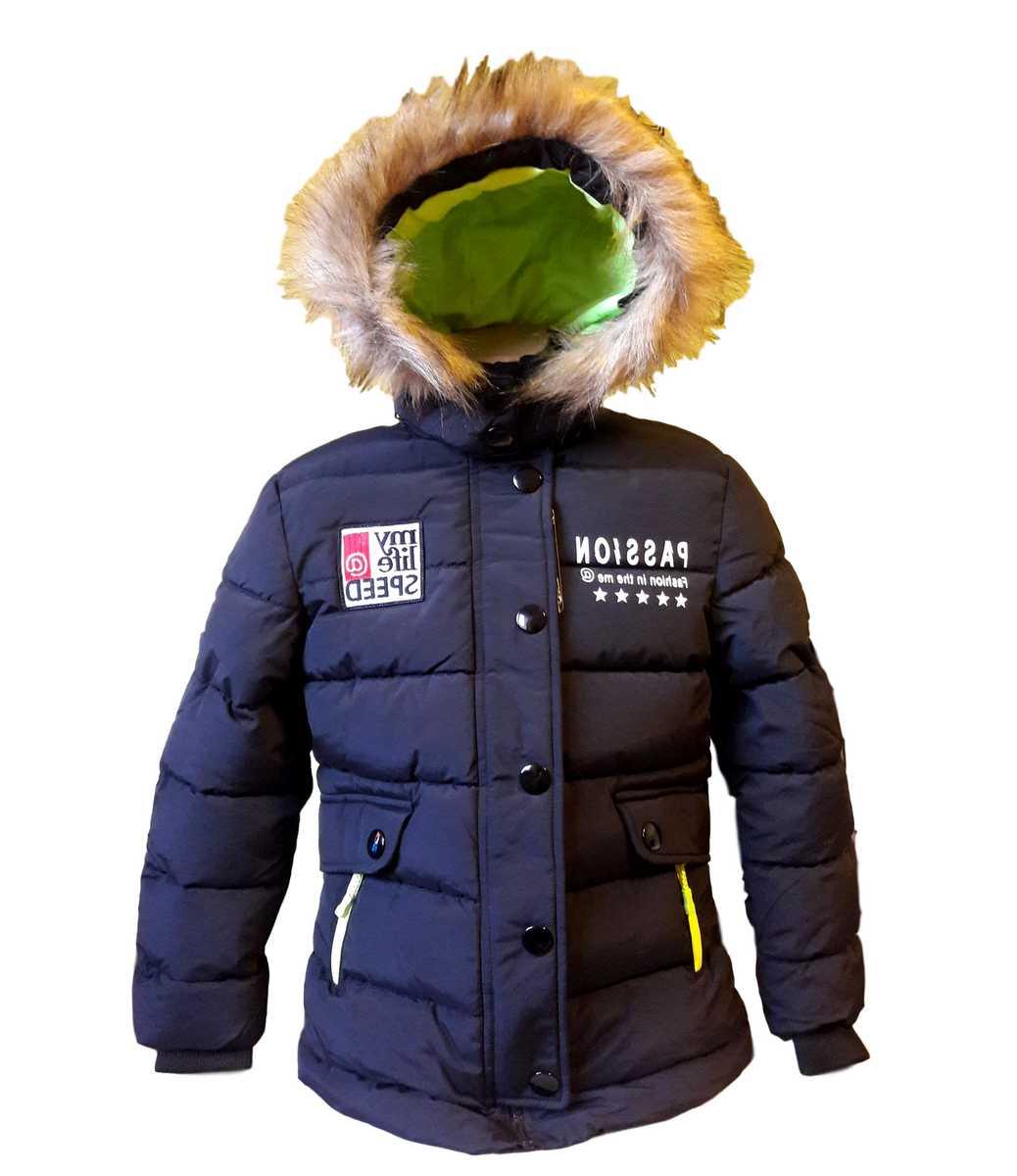 Chlapecká zimní bunda Wolf černá  c38af038d7