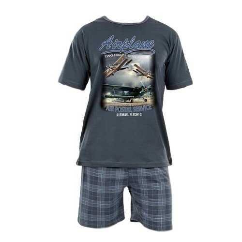 ef70d0b4baca Pánské pyžamo Evona krátké vel. M-XXL šedé