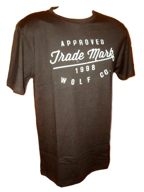 Pánské tričko Wolf černé L