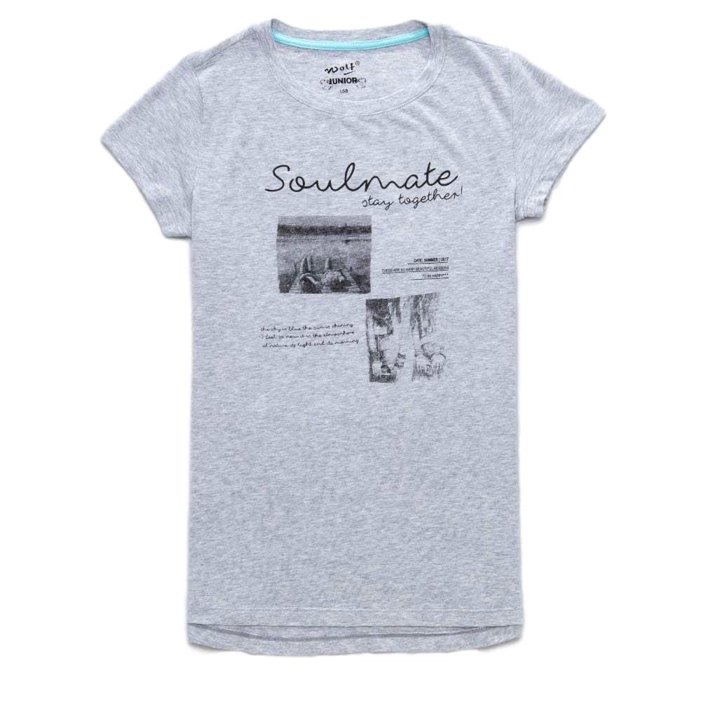 Dívčí tričko Wolf vel. 164 šedé 164