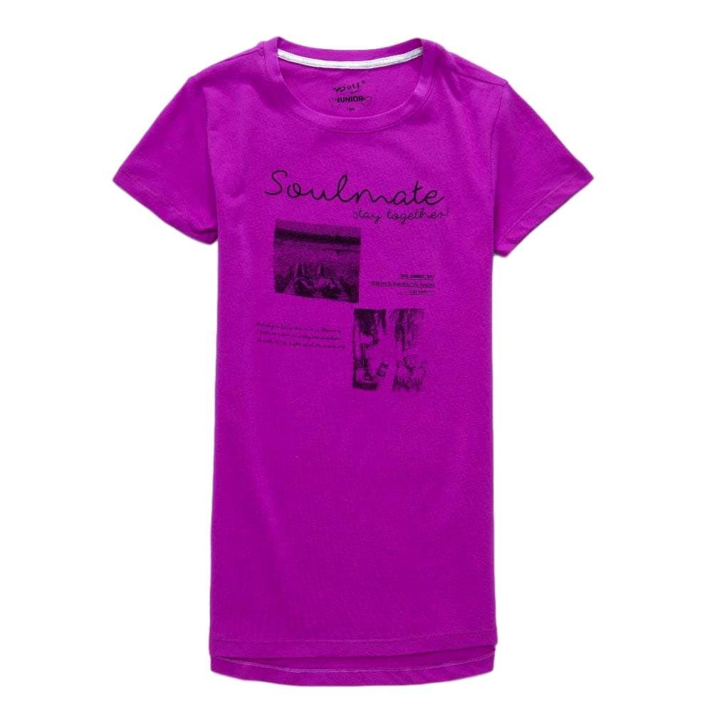 Dívčí tričko Wolf vel. 164 fialové 164