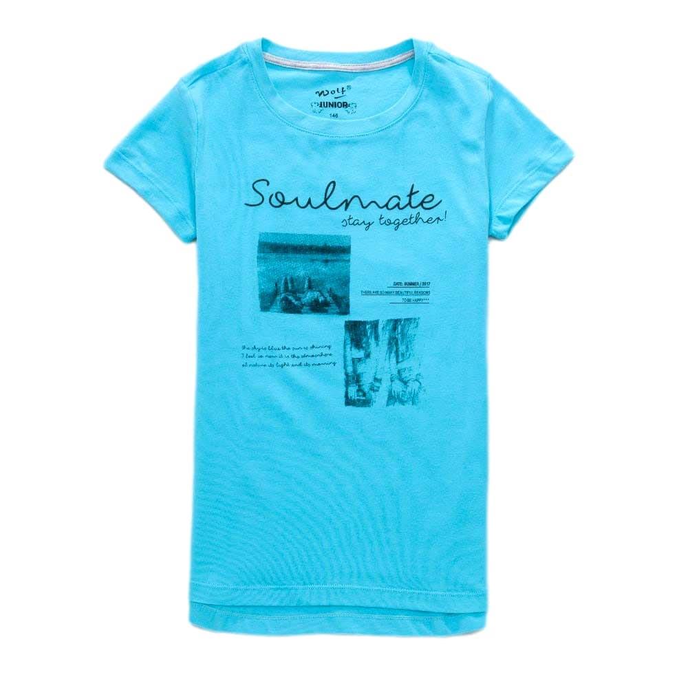Dívčí tričko Wolf vel. 164 modré 164