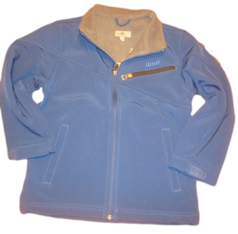 Jarní/podzimní softshellová bunda Wolf tmavě modrá 128