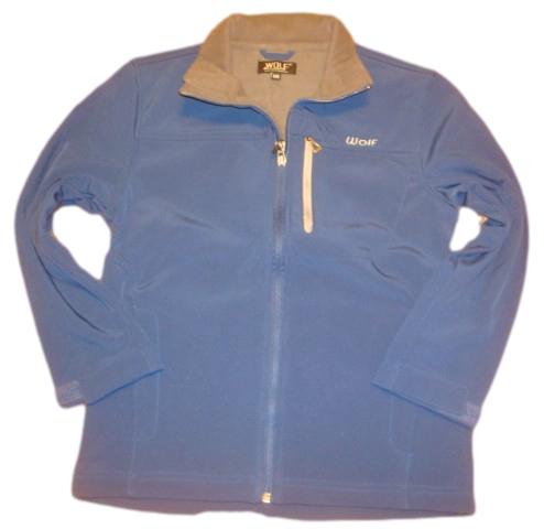Jarní nebo podzimní softshellová bunda Wolf modrá 140