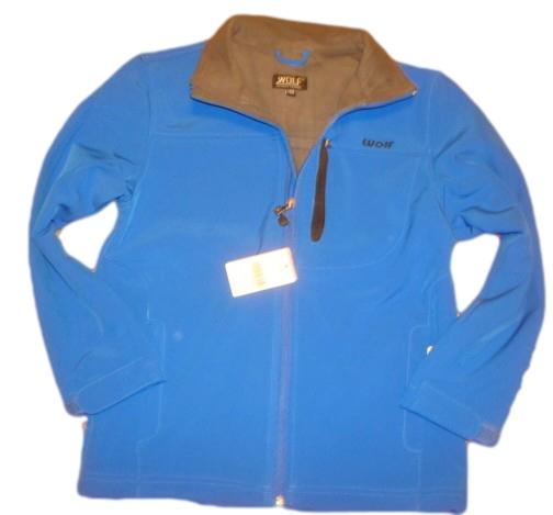 Jarní nebo podzimní softshellová bunda Wolf světle modrá 158