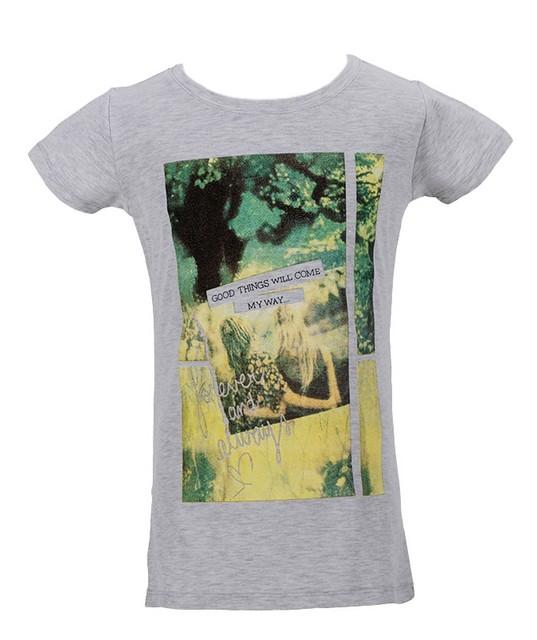 Dívčí tričko Wolf vel. 164 šedý melír 164