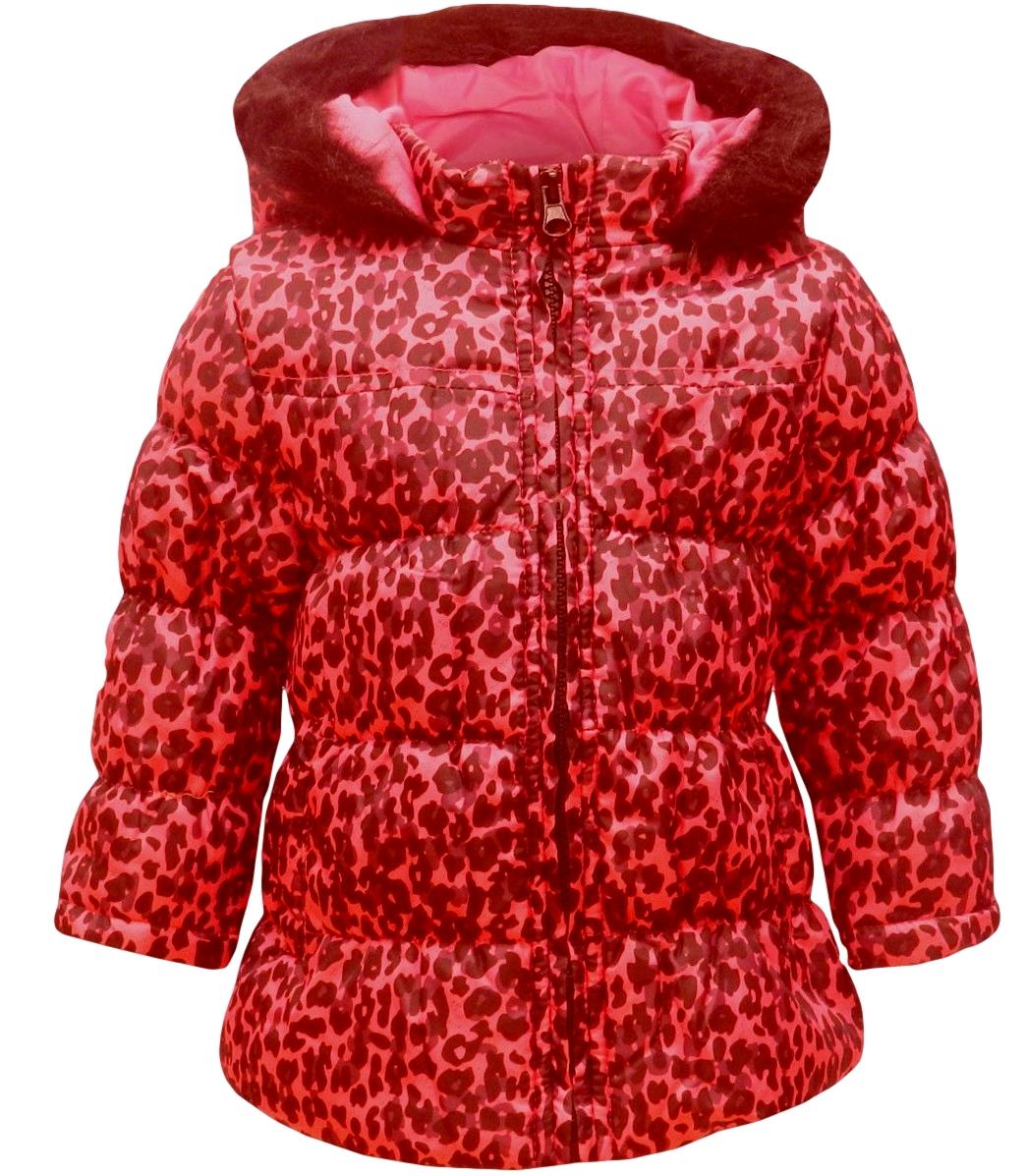 Dívčí zimní kabátek Minx vel. 98-104 růžový s černou 98-104