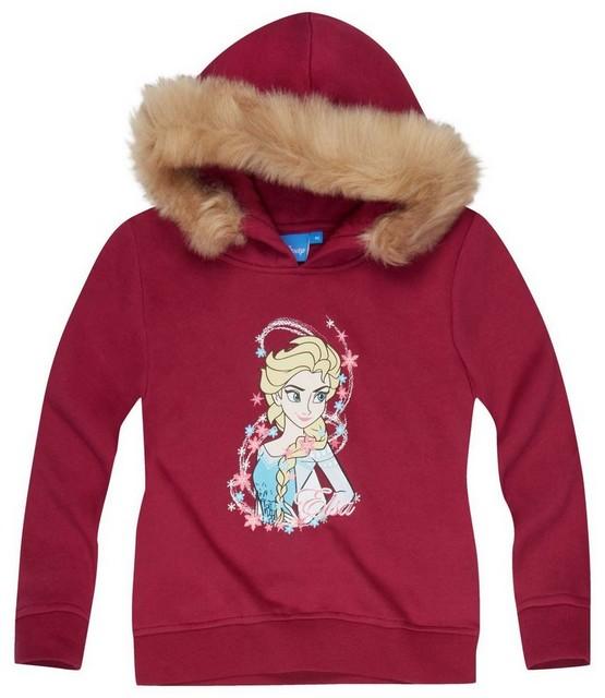 Dívčí mikina Frozen vel. 128 bordo - POSLEDNÍ 2 KUSY !!! 128