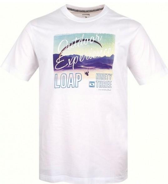 Pánské tričko Loap Barclay bílé M