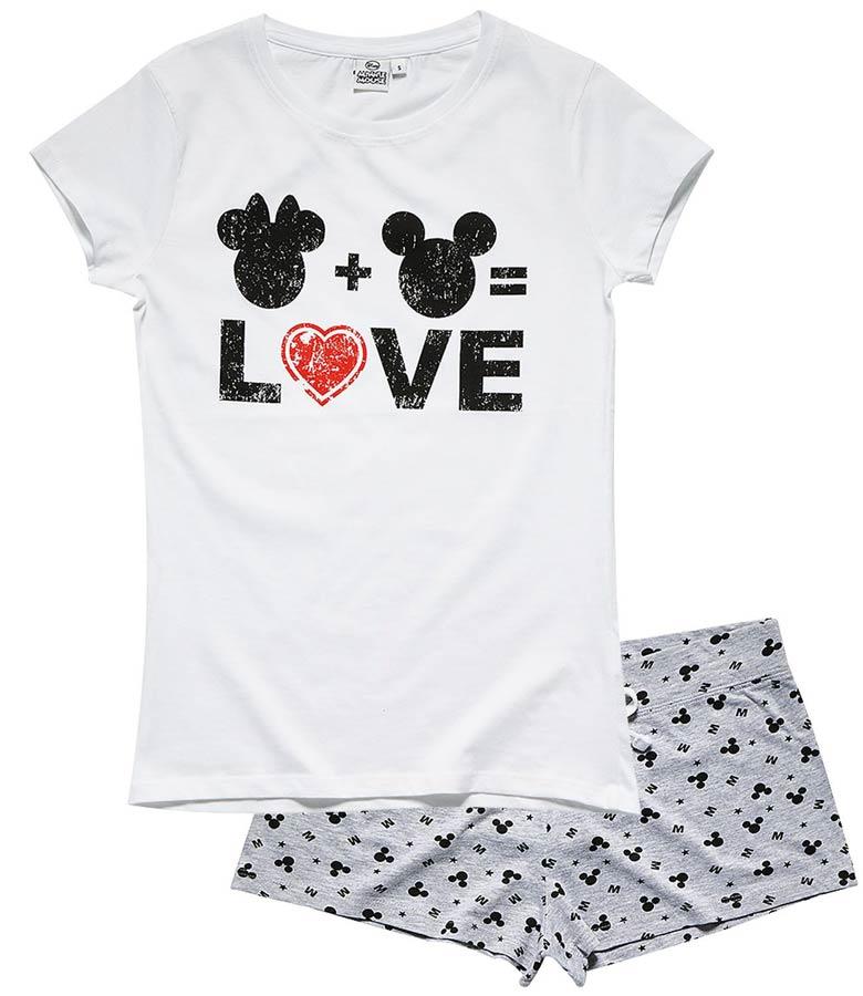 Dámské letní pyžamo Minnie bílé se šedou L 8a1bb29bb8c