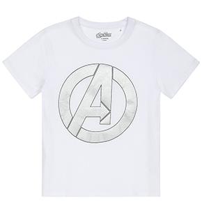 877eb20b2e51 Chlapecké tričko Avengers vel. 128-152 bílé se stříbrným potiskem ...
