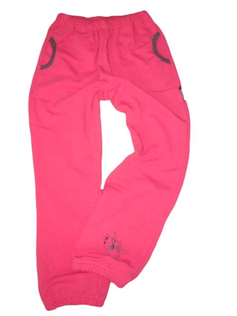 Dívčí tepláky bavlněné vel. 98 tm.růžové kočka 5a5cd3beb6