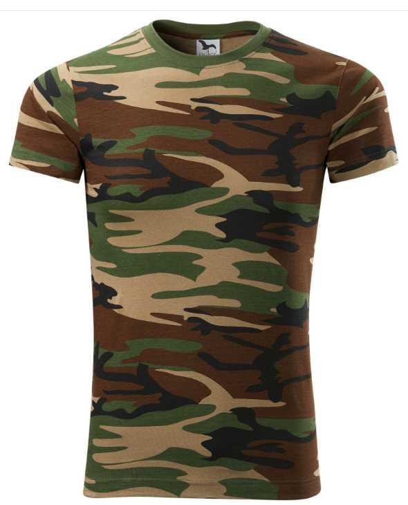 Pánské tričko Adler zelenohnědý maskáč  8a7913a0ced