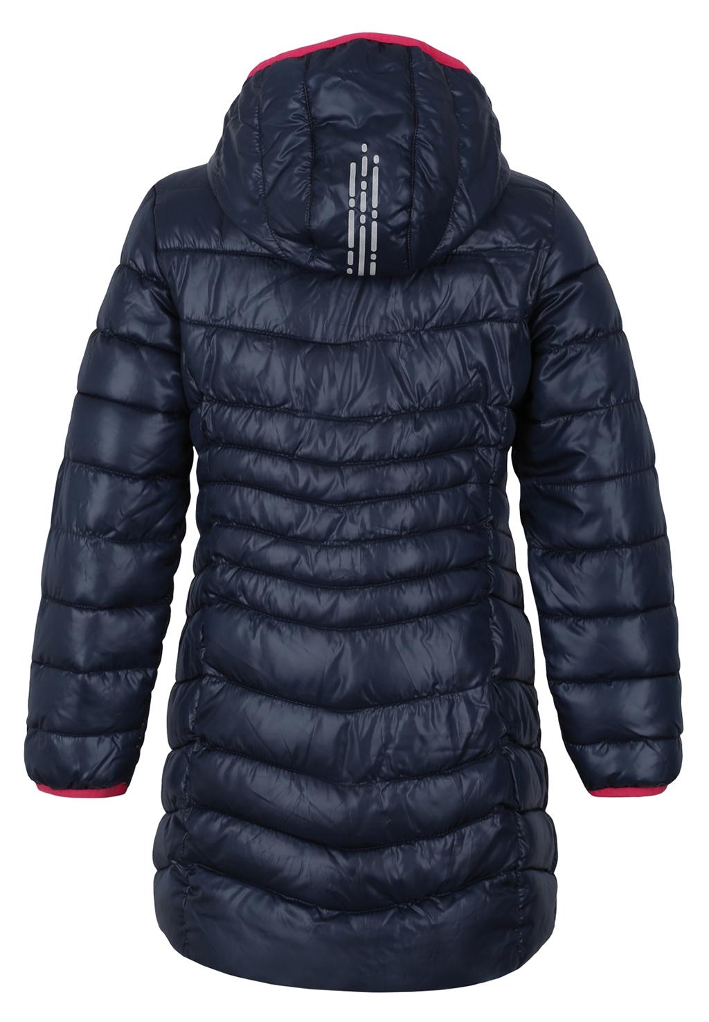 Dívčí zimní kabát Loap Ikima tmavě modrý  980900d20e
