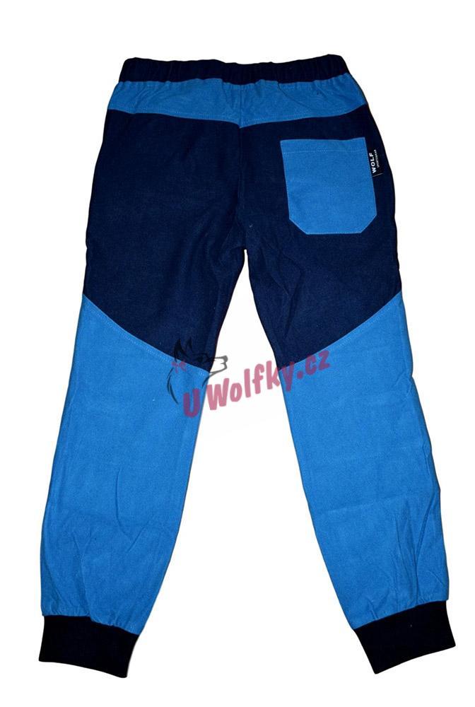 Chlapecké manšestrové kalhoty Wolf T2951 vel. 116-146 petrolejové 87828fa8c7