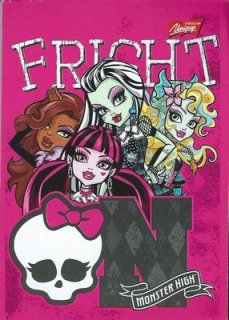 Bloček Monster High A7 - motiv č.1