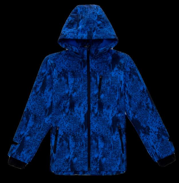 Podzimní chlapecká softshellová bunda Wolf modrá 110-116