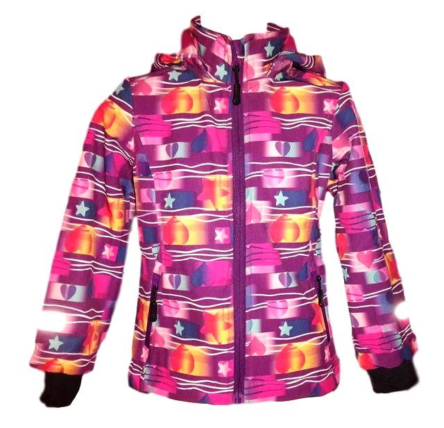 Podzimní dívčí softshellová bunda Wolf fialová 122-128