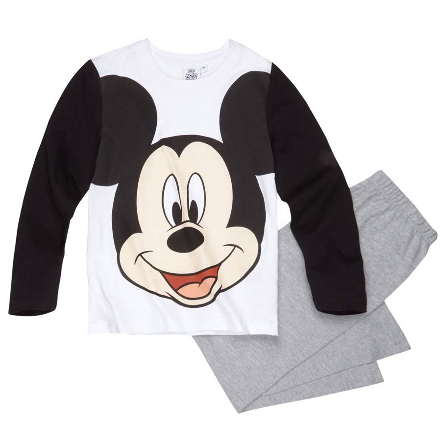 Chlapecké pyžamo Mickey Mouse bílé se šedou 104