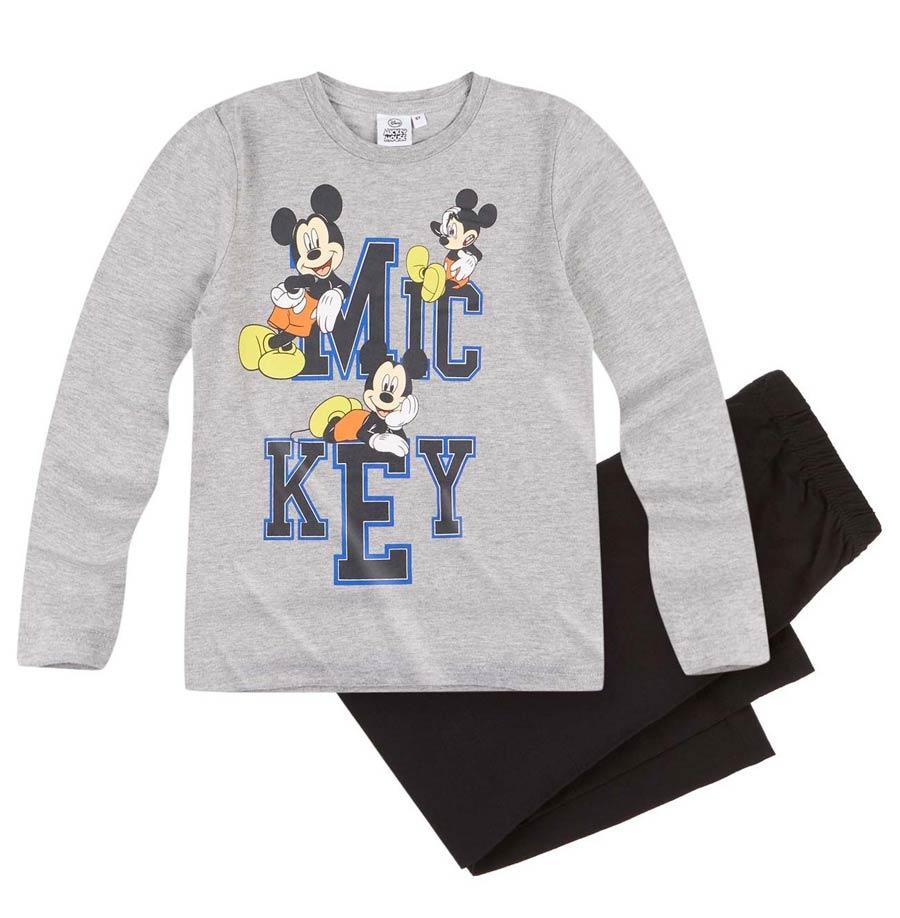 Chlapecké pyžamo Mickey Mouse vel. 104 šedé s černou 104