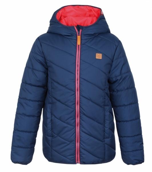 Zimní bunda Loap Ulrich tmavě modrá s růžovou dívčí