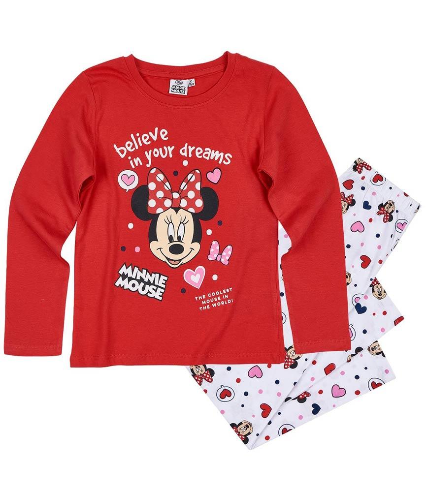 Dívčí pyžamo Minnie červené 104