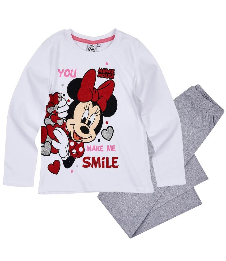 Dívčí pyžamo Minnie bílé se šedou 104