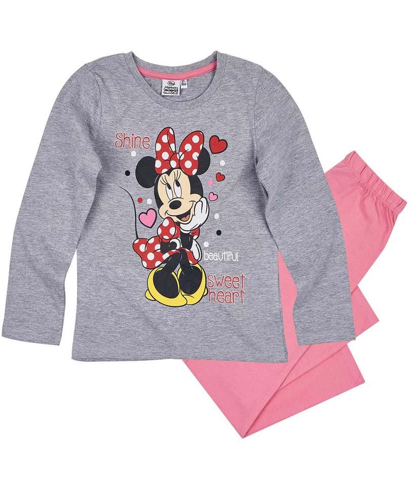 Dívčí pyžamo Minnie šedé s růžovou 104
